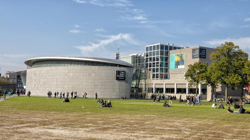 Van Gogh Museum on Museum Square, Amsterdam, Netherlands stock images