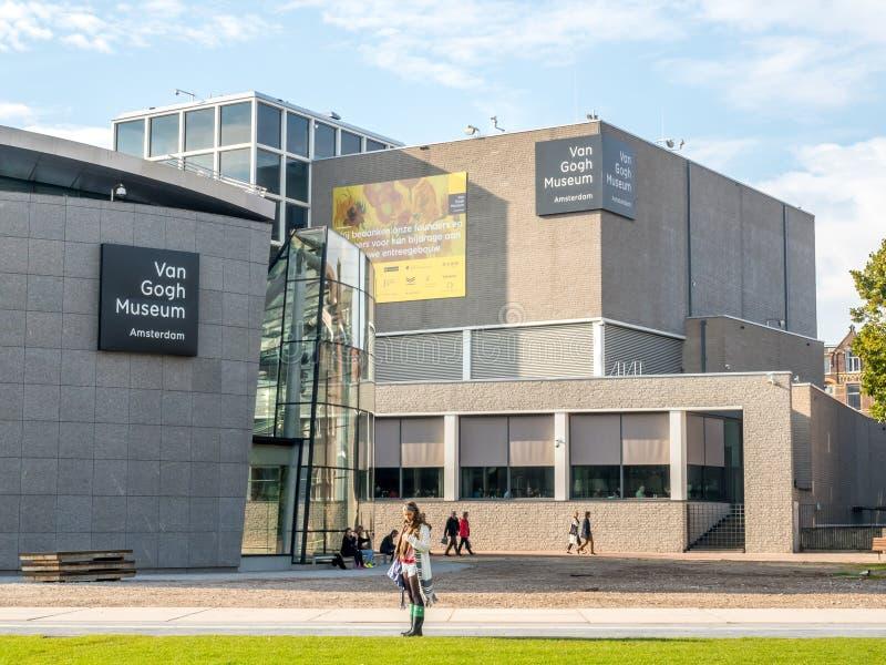 Van Gogh museumbyggnad royaltyfri fotografi