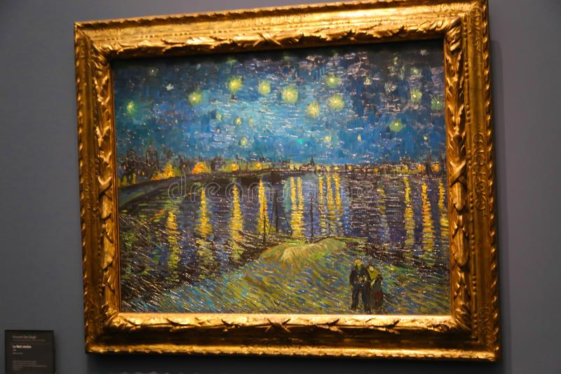 Van Gogh obraz przy Orsay muzealny Paryski Francja zdjęcie royalty free