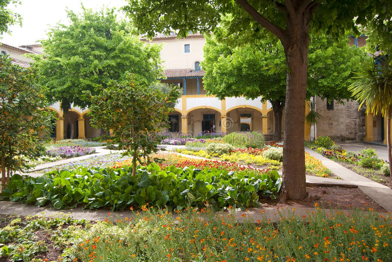 Van Gogh's garden. The famous garden in Arles painted by Van Gogh during the period when we was in the hospital Hotel de Dieu royalty free stock image