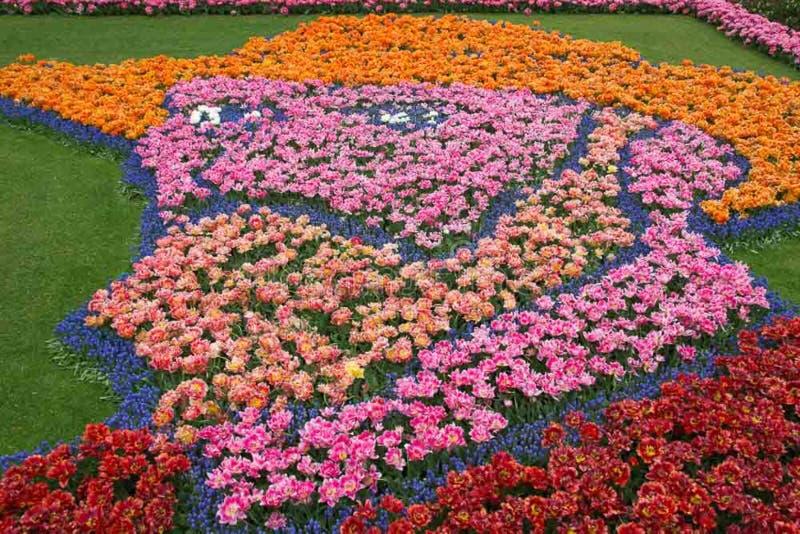 Van Gogh-tulpenmozaïek stock afbeelding