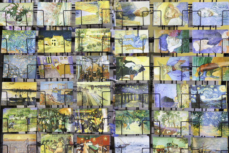 Van Gogh vykort arkivfoton