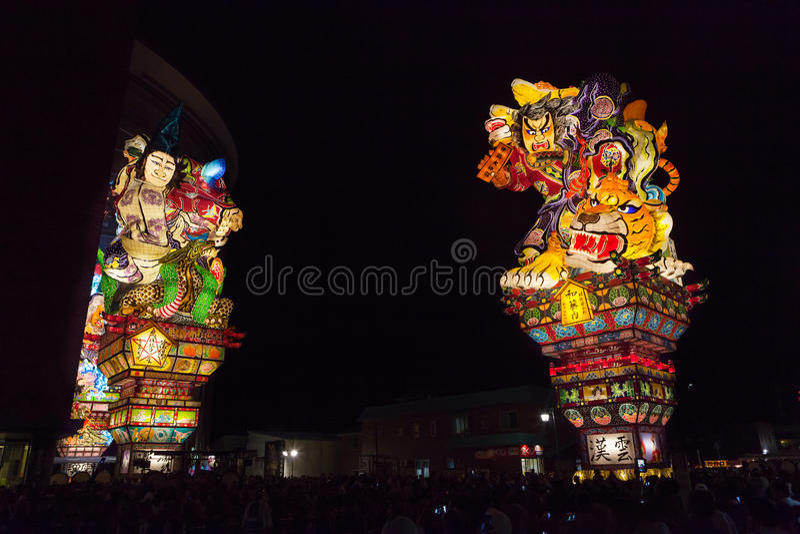 Van Goshogawaratachi Neputa (Bevindende vlotter) het festival royalty-vrije stock afbeeldingen