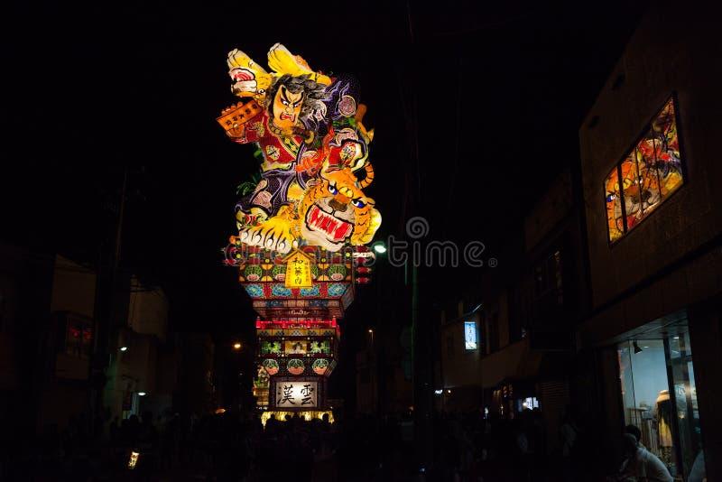 Van Goshogawaratachi Neputa (Bevindende vlotter) het festival stock foto