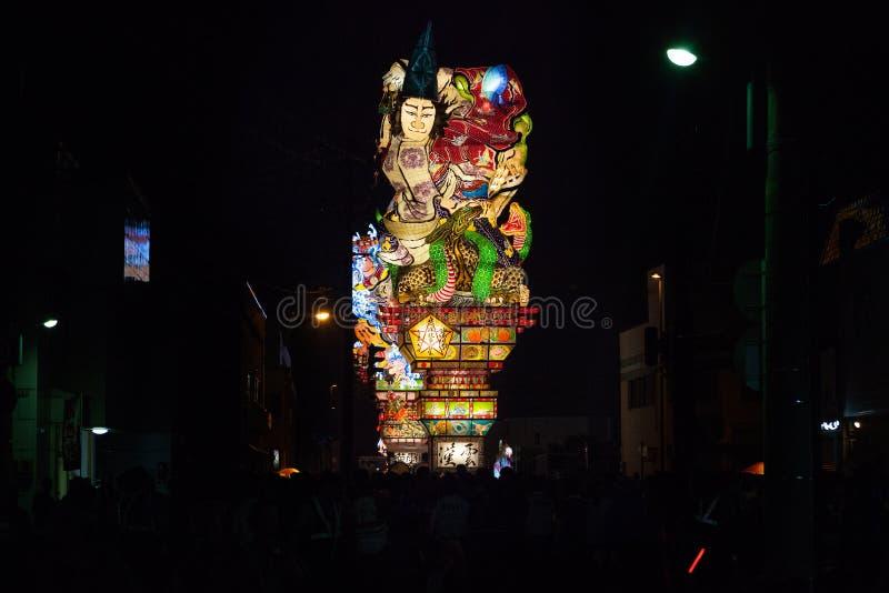Van Goshogawaratachi Neputa (Bevindende vlotter) het festival royalty-vrije stock fotografie
