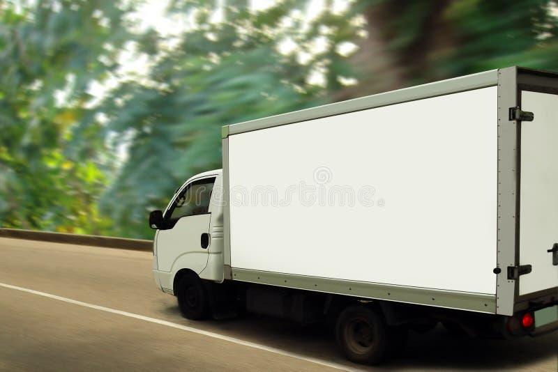 Download Van, Green Forest. Ecological Transport Concept. Stock Image - Image: 20055589