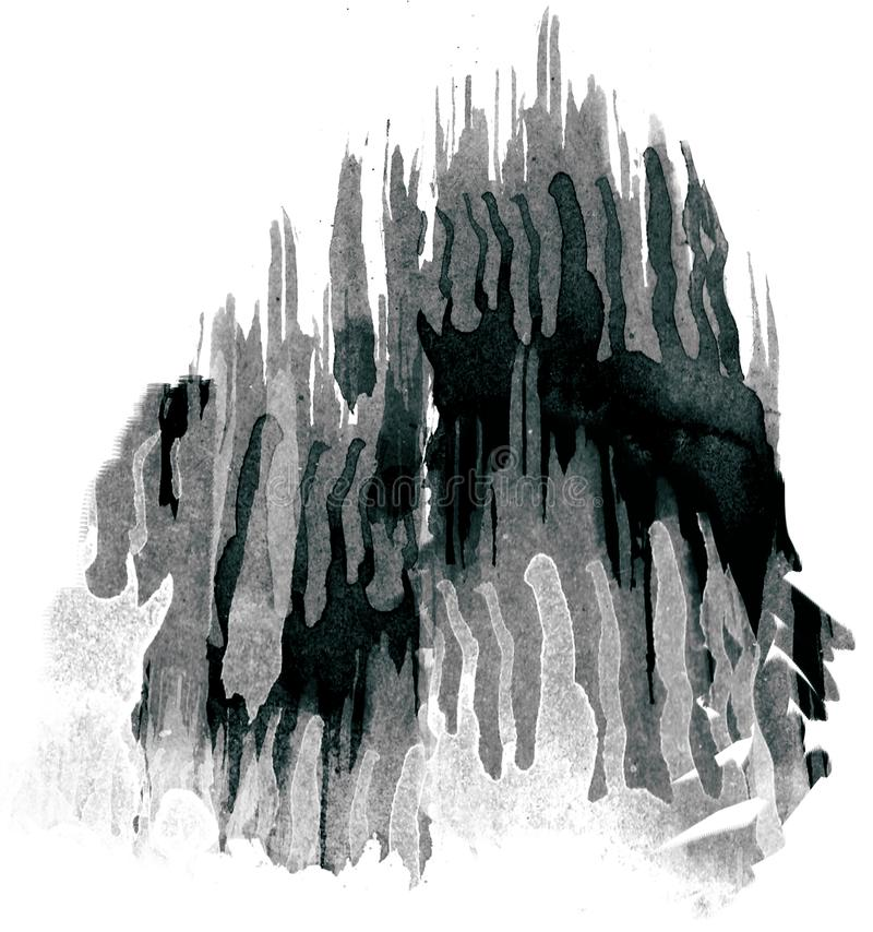 Van Grunge rought vat het creatieve plonsen en slagen effect waterverf of inkt van vloeibaar water van verf samen vector illustratie