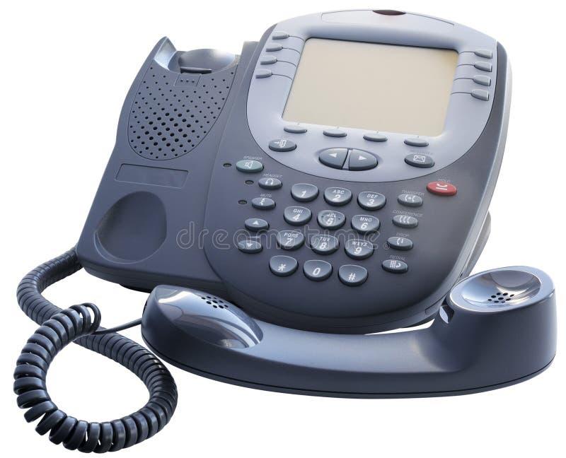 Van-haak van de bureau de digitale telefoon royalty-vrije stock afbeeldingen