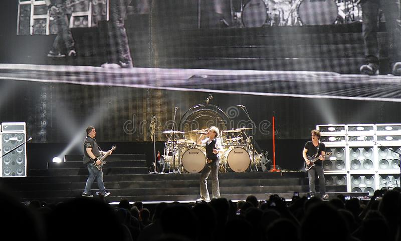 Van Halen in concert. At the Amway center in Orlando Florida; with original singer David Lee Roth. The group is on their 2012 North America Tour royalty free stock image