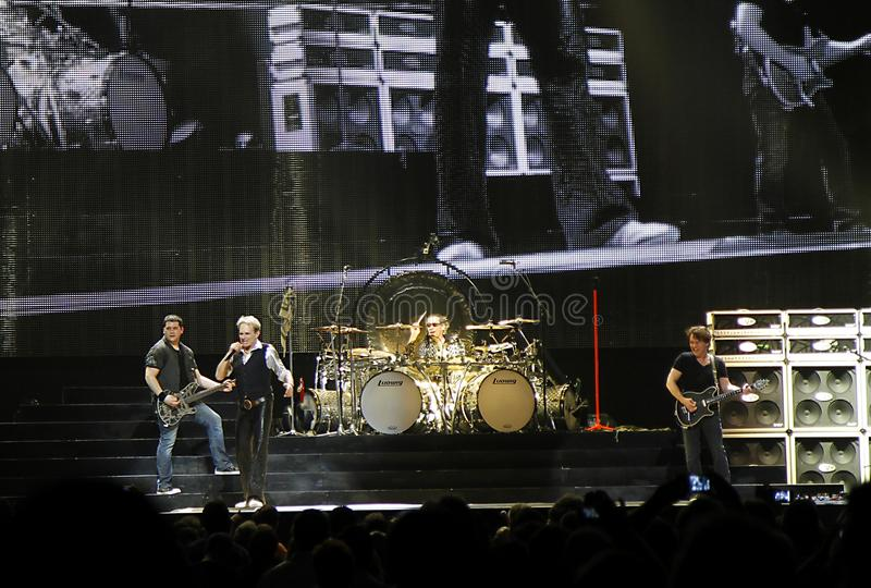 Van Halen in concert. At the Amway center in Orlando Florida; with original singer David Lee Roth. The group is on their 2012 North America Tour stock photos