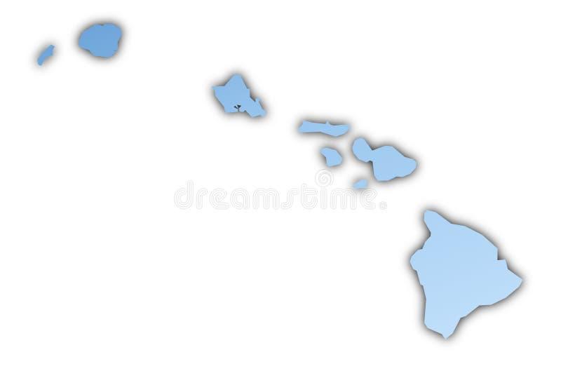 Van Hawai (de V.S.) de kaart stock illustratie