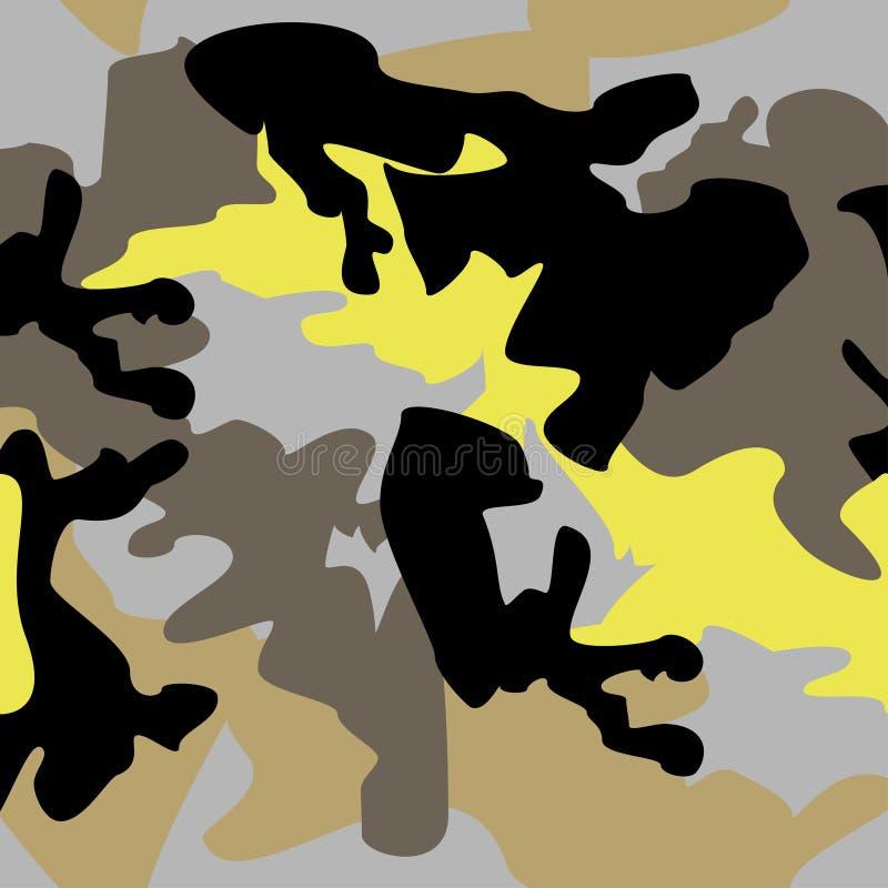 Van het achtergrond camouflagepatroon naadloze kledingsdruk, repeatabl royalty-vrije illustratie
