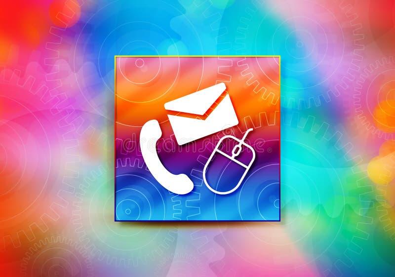 Van het achtergrond contactpictogram abstracte kleurrijke bokeh ontwerpillustratie stock illustratie