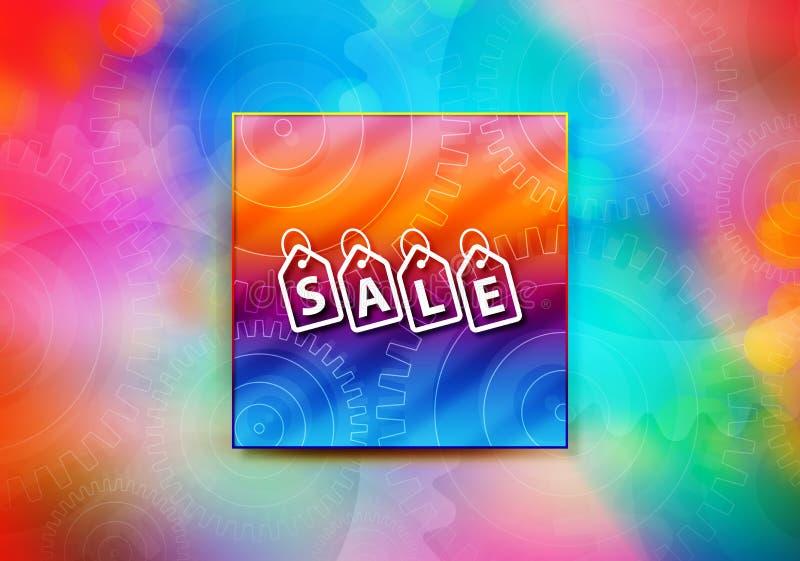 Van het het achtergrond etiketpictogram van verkoopmarkeringen abstracte kleurrijke bokeh ontwerpillustratie vector illustratie