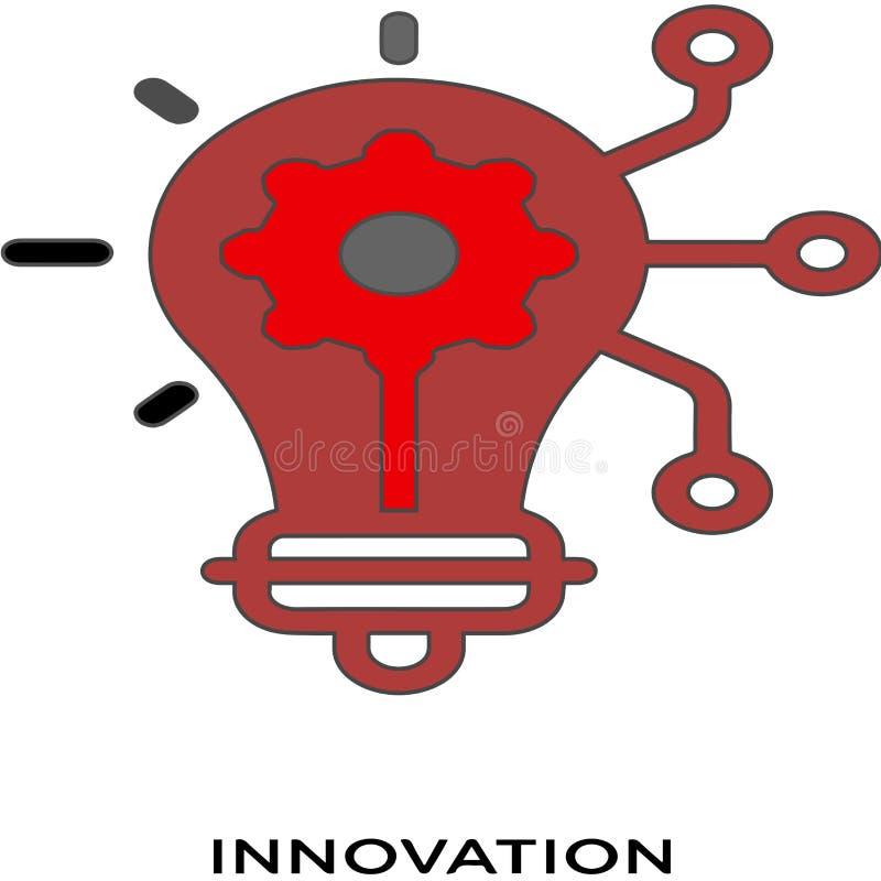 Van het achtergrond innovatiepictogram wit eenvoudig elementenillustratie marketing concept royalty-vrije illustratie