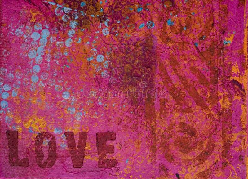 Van het achtergrond kunstwerk liefde royalty-vrije illustratie