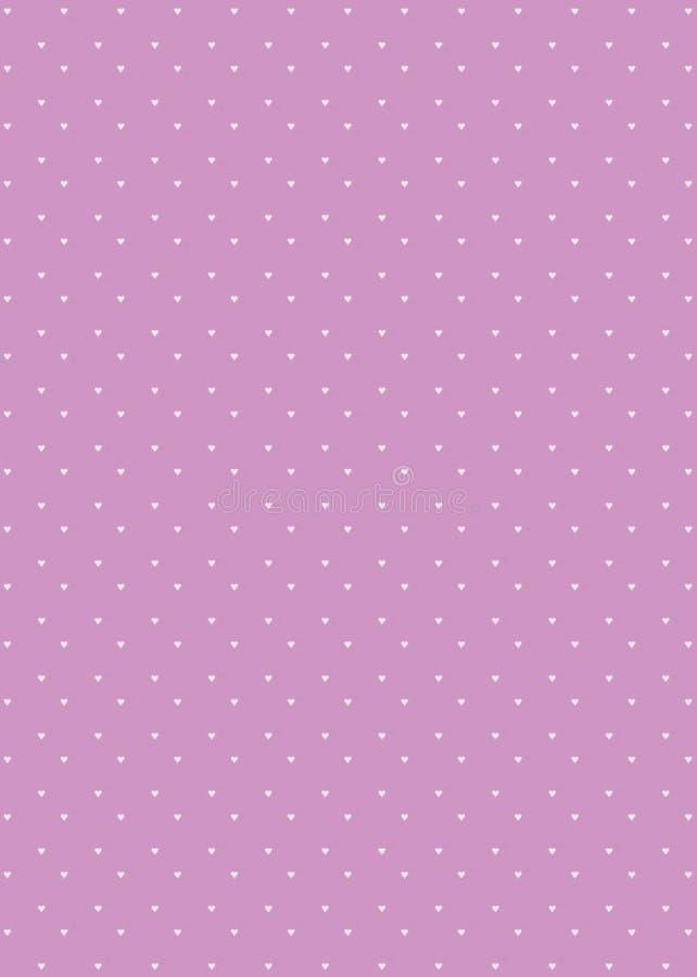 Van het Achtergrond patroon van het hart Lavendel vector illustratie