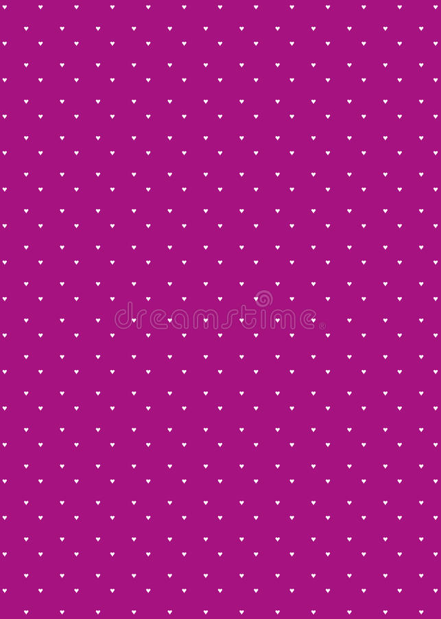 Van het Achtergrond patroon van het hart Purple royalty-vrije illustratie