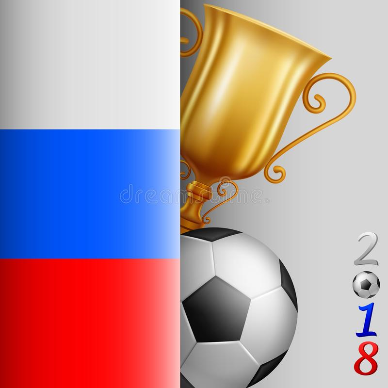 Van het achtergrond voetbalkampioenschap Voetbal Rusland stock illustratie