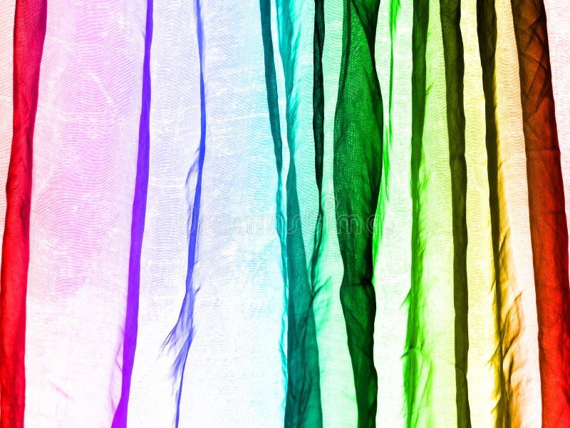 Van het achtergrond voilegordijn regenboogkleuren royalty-vrije stock foto
