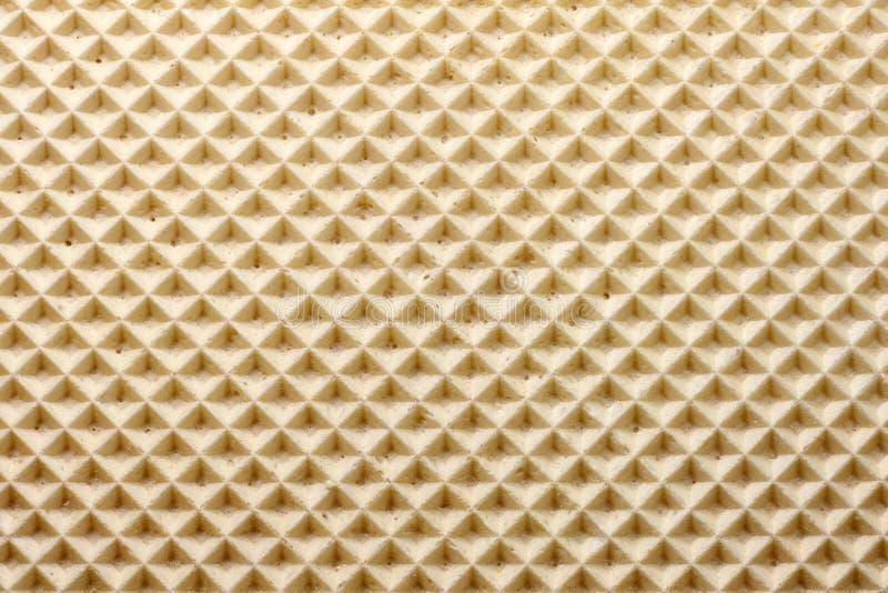 Van het achtergrond wafeltje textuur stock afbeelding