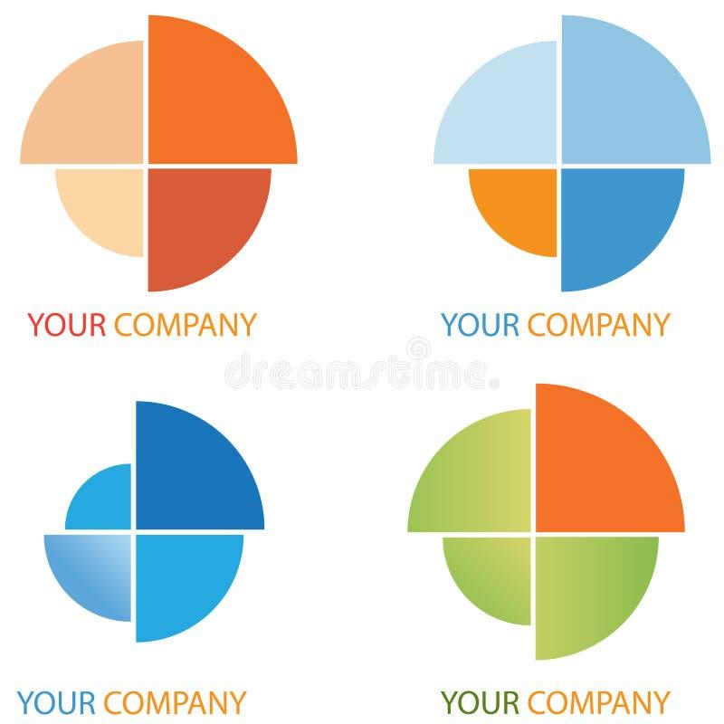 Van het bedrijfs bedrijf embleem - Investering royalty-vrije illustratie