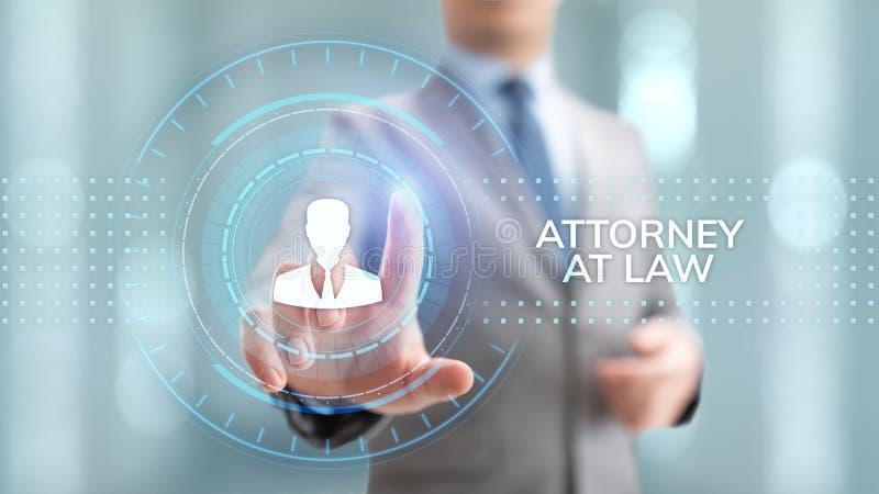 Van het het bedrijfs bepleiten juridische advies van de advocaat advocaat concept royalty-vrije stock afbeelding