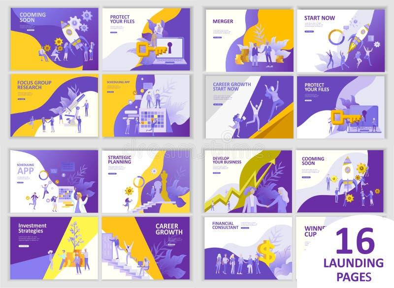 Van het bedrijfs bureauconcept mensen voor projectleiding, zaken, werkschema en het raadplegen Moderne vectorillustratie royalty-vrije illustratie