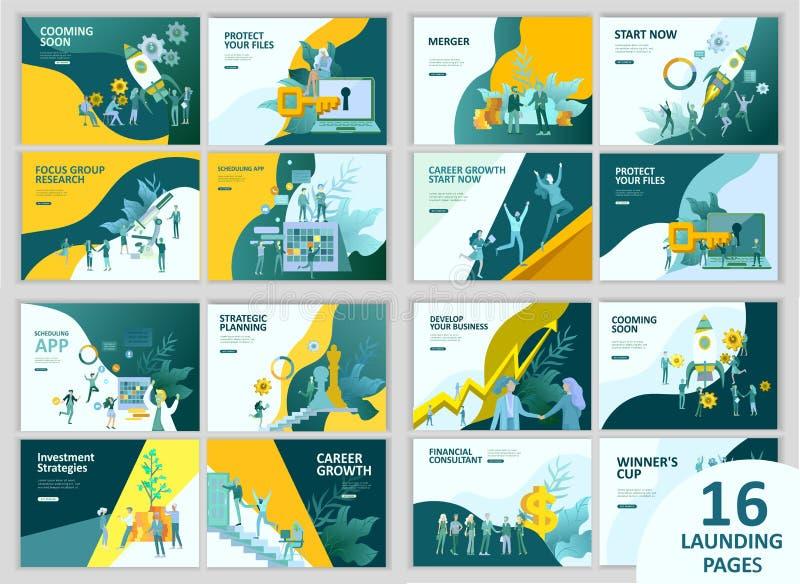 Van het bedrijfs bureauconcept mensen voor projectleiding, zaken, werkschema en het raadplegen Moderne vectorillustratie stock illustratie
