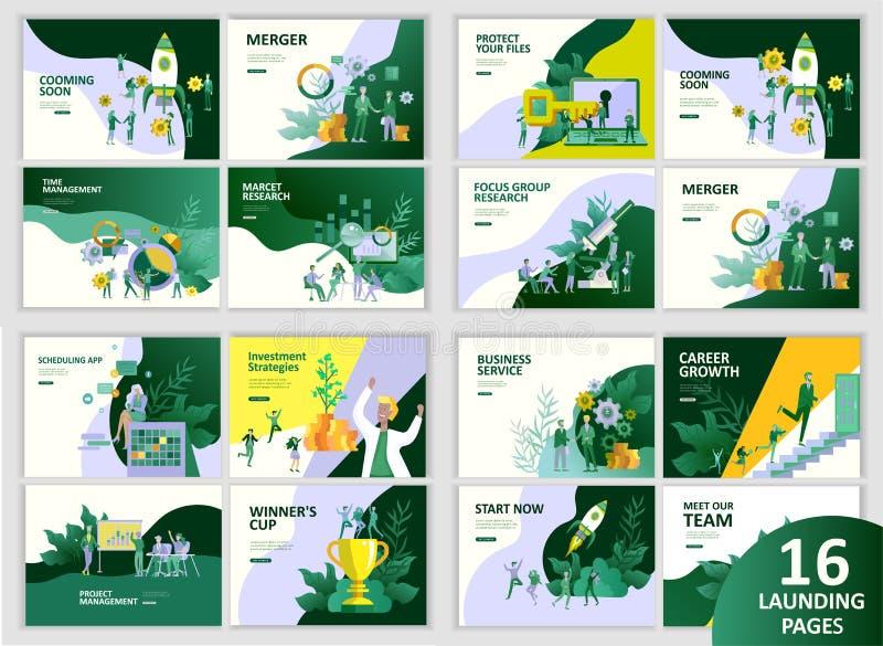 Van het bedrijfs bureauconcept mensen voor projectleiding, zaken, werkschema en het raadplegen Moderne vectorillustratie vector illustratie