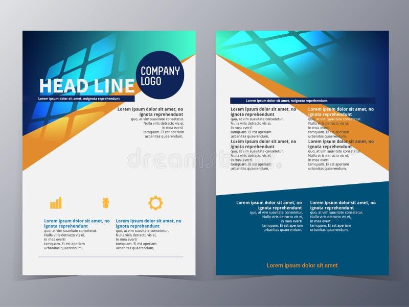 Van het bedrijfs en technologie het malplaatjevector brochureontwerp royalty-vrije illustratie