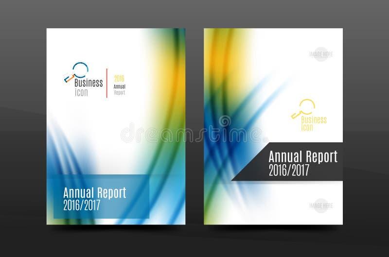 A4 van het bedrijfs grootte jaarverslag vliegerdekking royalty-vrije illustratie