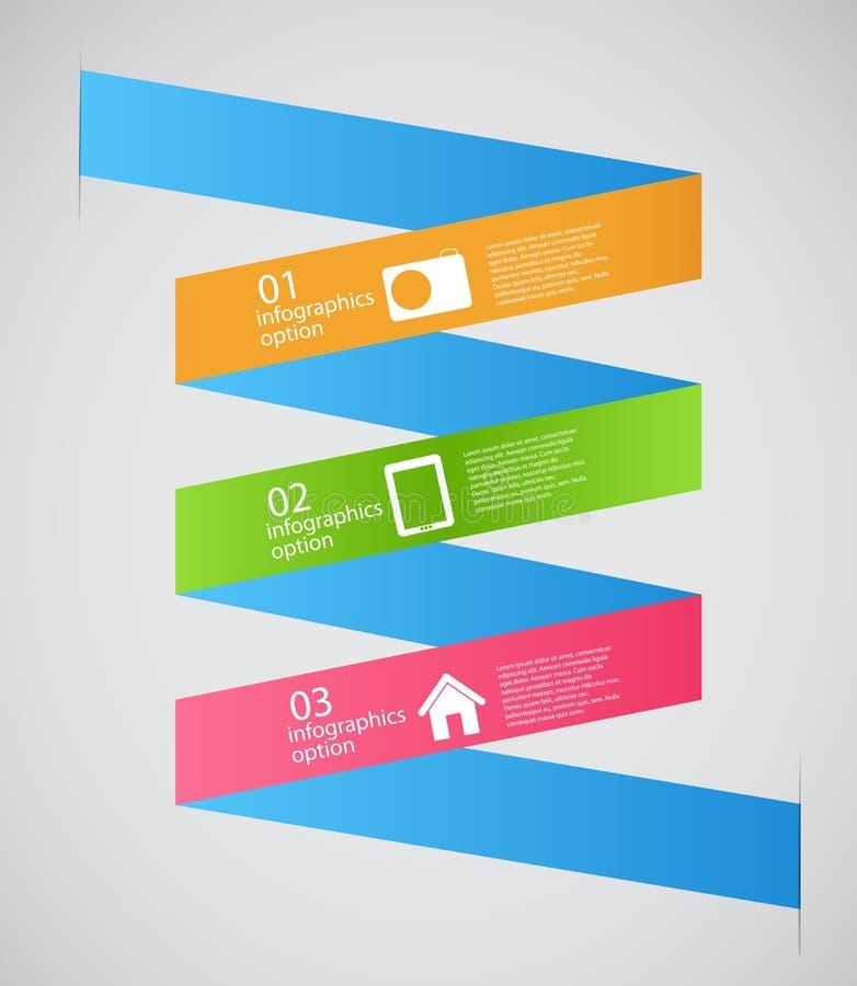 Van het Bedrijfs infographicmalplaatje vectorillustratie stock illustratie