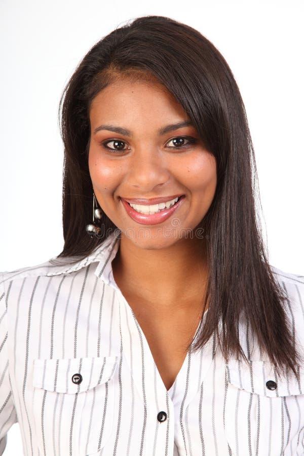 Van het bedrijfs portret mooie glimlachende vrouwelijke vrouw royalty-vrije stock foto