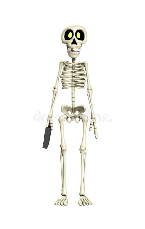 Van het bedrijfs skelet Arbeider vector illustratie