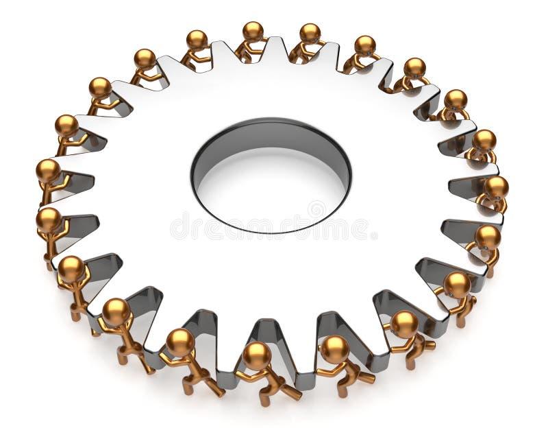 Van het het bedrijfs teamwerk van de groepswerkactie de baan hard procespictogram stock afbeelding