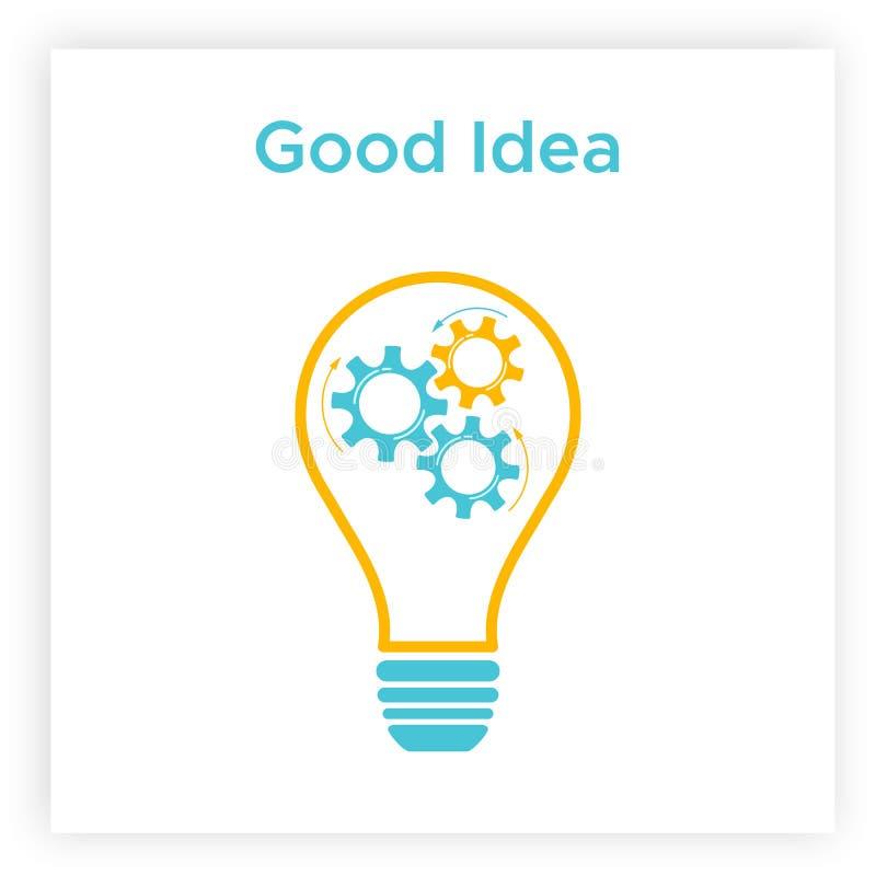 Van het bedrijfs toestel lightbulb creatief groepswerk concept vector illustratie
