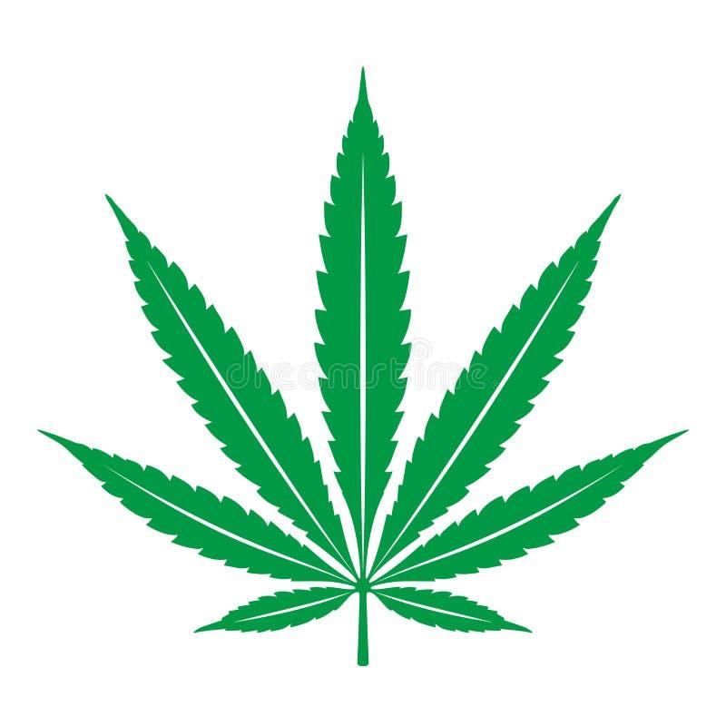 Van het het bladonkruid van de marihuanacannabis van het het pictogramembleem grafische de illustratie van de de klemkunst vector illustratie
