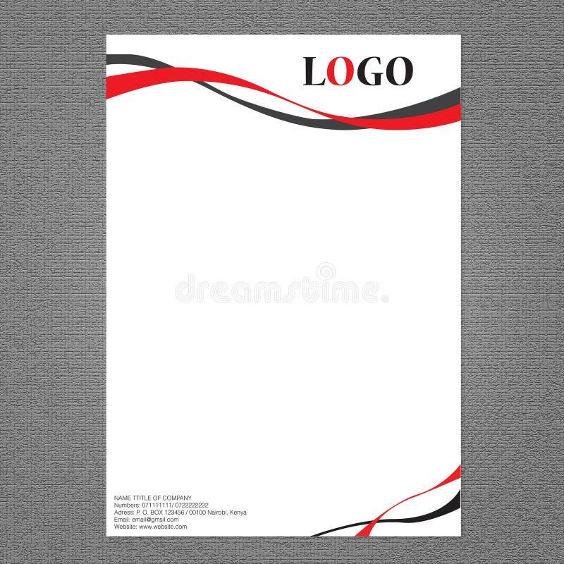 Van het brievenhoofd en embleem ontwerp stock illustratie