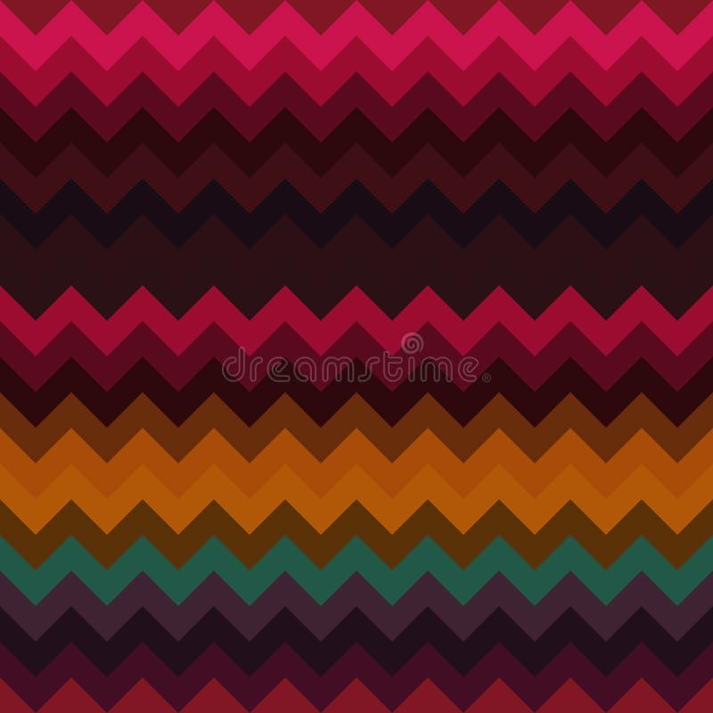 Van het chevronpatroon geometrische zigzag als achtergrond, textuurillustratie stock illustratie