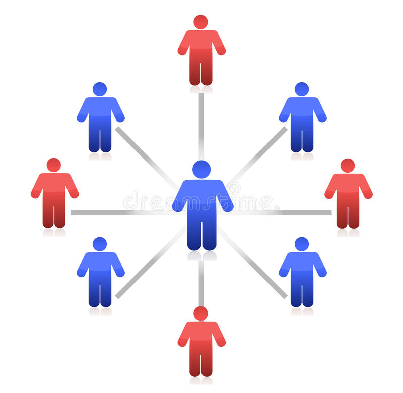 Van het commerciële de aansluting centrumnetwerk illustratie vector illustratie