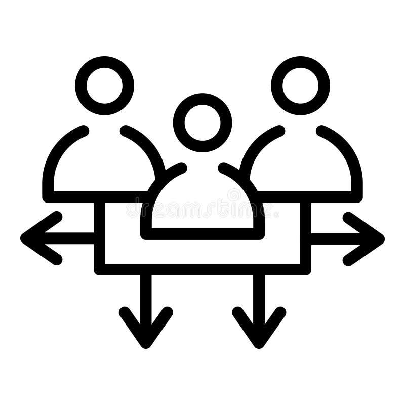 Van het communicatie het pictogram doelpubliek, overzichtsstijl stock illustratie