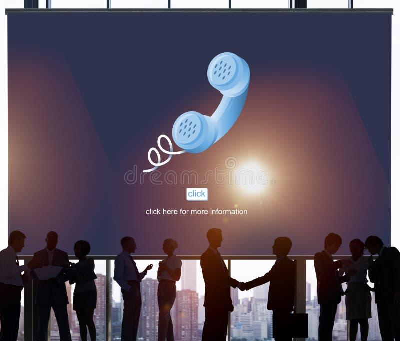 Van het Communicatie van de vraagtelefoon het Concept Telefoongesprek royalty-vrije stock afbeelding