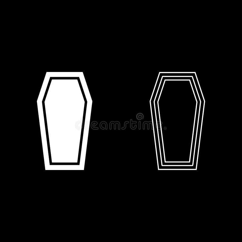 Van het het concepten Begrafenis onderworpen Deksel van de doodskistverzekering van het de doodskistpictogram van de de kleurenil vector illustratie