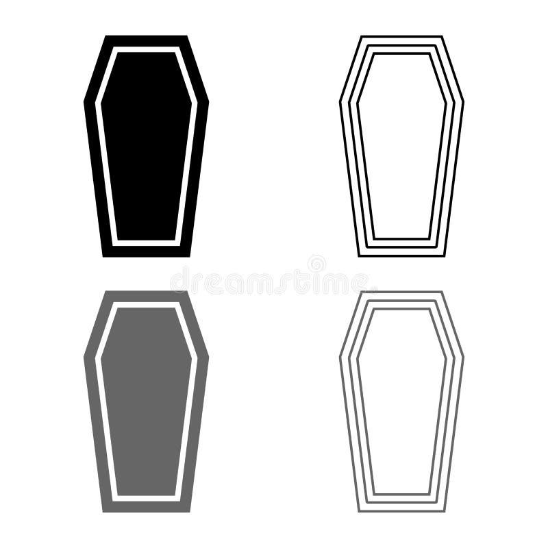 Van het het concepten het Begrafenis onderworpen Deksel van de doodskistverzekering van het de doodskistpictogram van de de kleur royalty-vrije illustratie