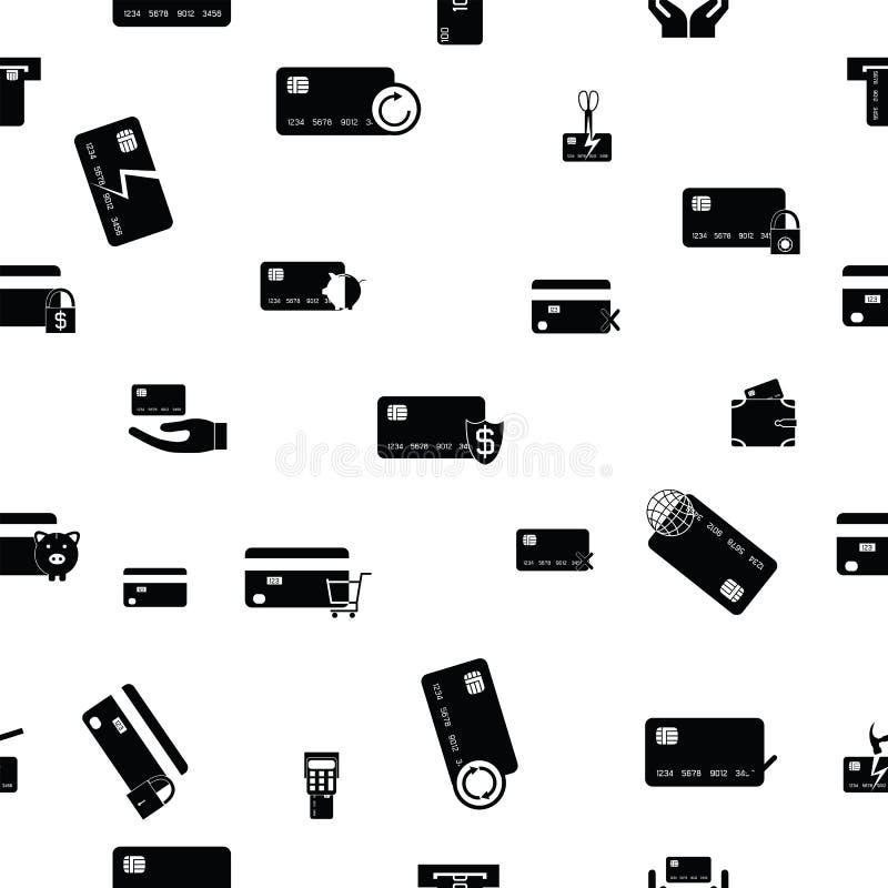 Van het creditcards naadloos patroon pictogram als achtergrond vector illustratie