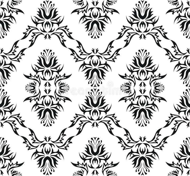 Van het damast (het Victoriaanse) naadloze patroon vector illustratie