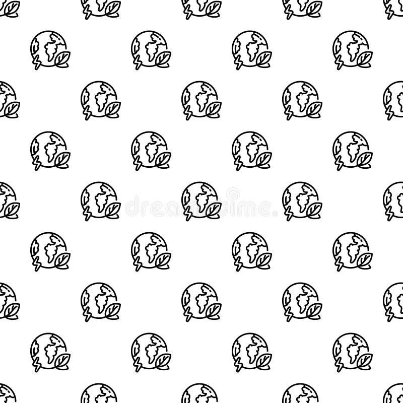 Van het de aardepatroon van de Ecobol de naadloze vector vector illustratie