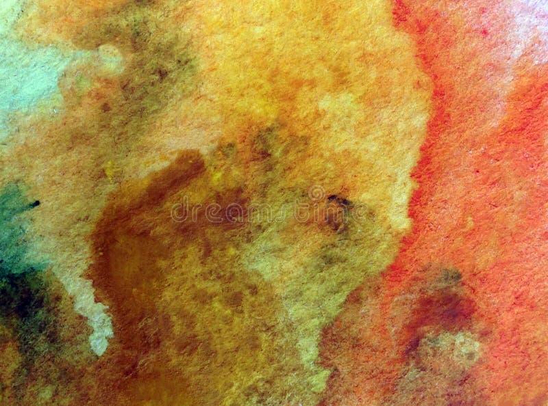 Van het van de achtergrond waterverfkunst geweven natte was vage kleurstof de abstracte stenenzand vector illustratie