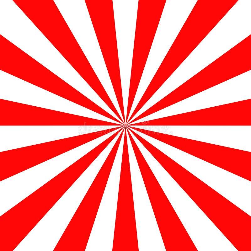 Van het de achtergrond zonbehang van voorraad vectorjapan rood van de vectorillustratie retro straal vierkant formaat als achterg vector illustratie